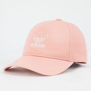 Adidas Original Relaxed Outline Strapback Hat Pink